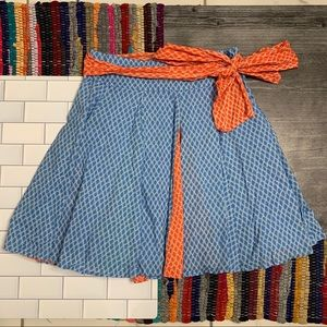 VTG Pepe Jeans 'Mermaid' Ribbon Tie Pleated Skirt